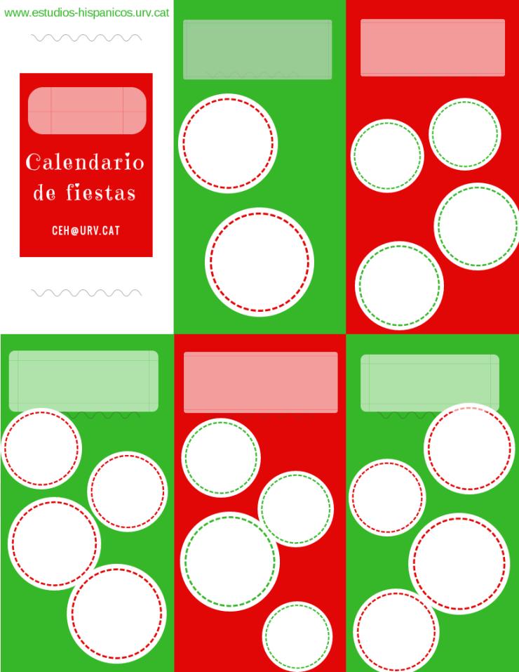 calendario de fiestas blanco